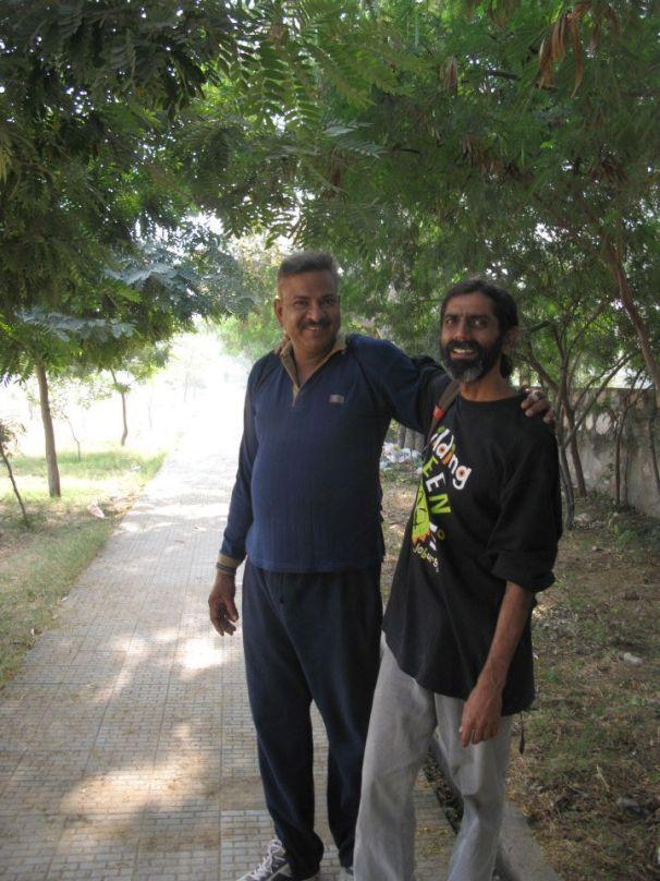 Raman and Shammi at Suraj Maidan, Raja Park