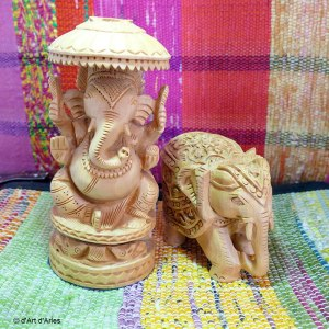 Sculptures bois Ganesh - Elephant