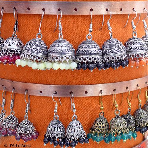 Boucles d'oreilles indiennes Jhumka