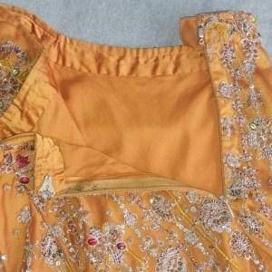 Jupe indienne de cérémonie, détail ceinture