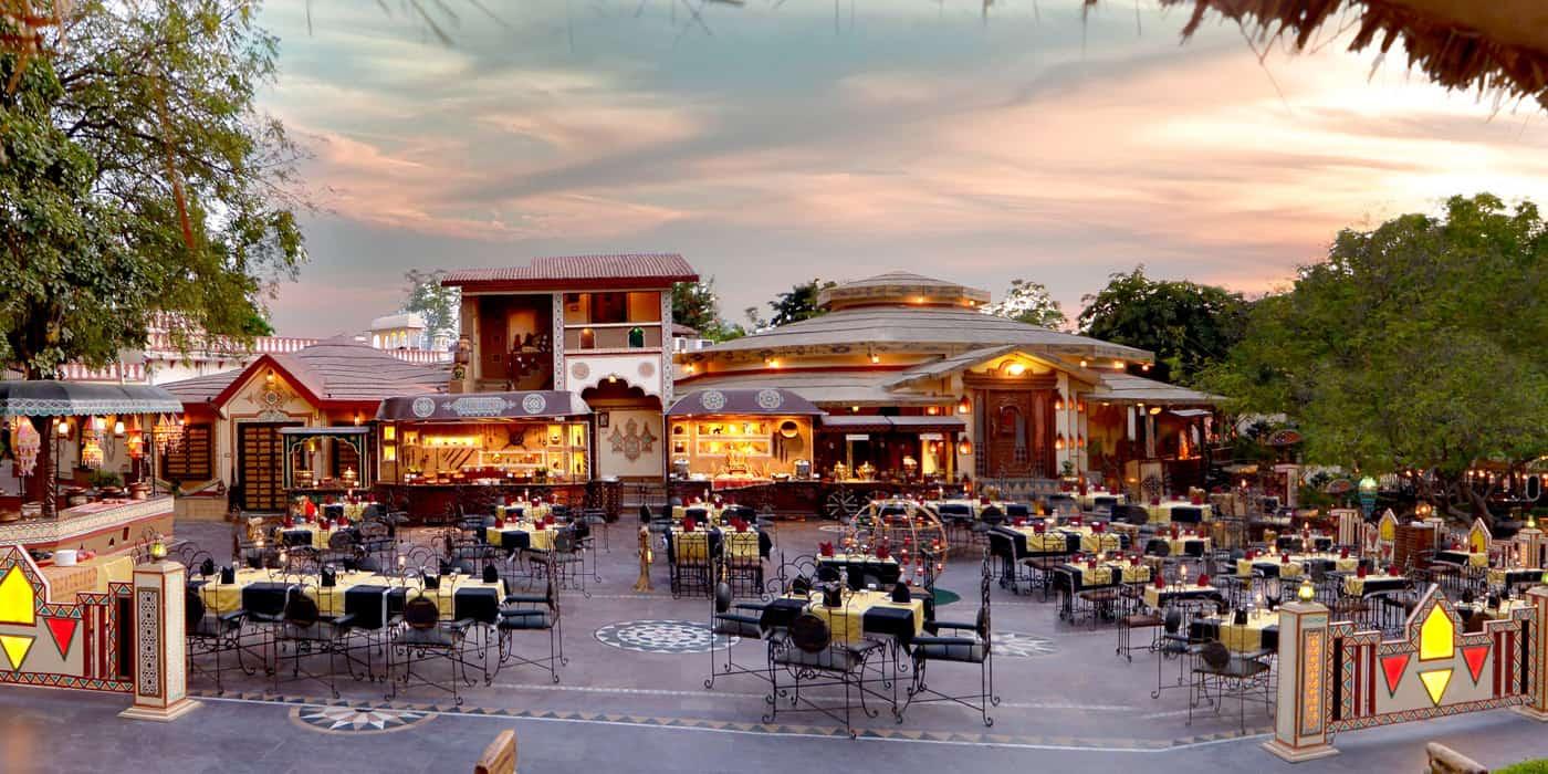 Food Courts at Chokhi Dhani Jaipur