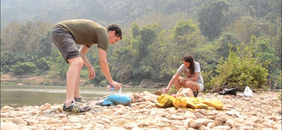 On se lâche ! - Land Art - Nong Khiaw - Laos