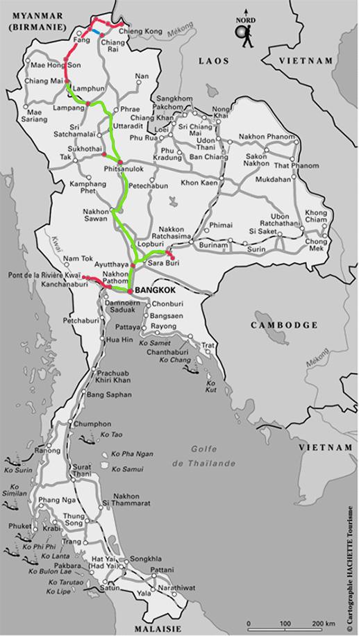 Itinéraire conseillé en Thaïlande - Notre circuit - Jaiuneouverture