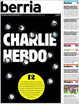 Berria - Pays Basque - Espagne - Je suis Charlie