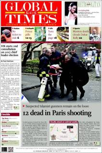Global Times - Chine - Nous sommes Charlie