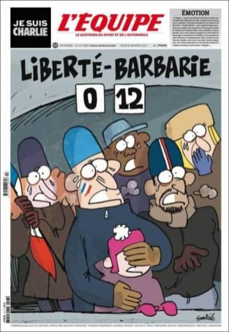 L'Equipe - France - Je suis Charlie