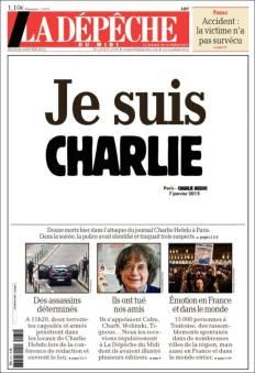 La Depeche - Midi Pyrénées - France - Je suis Charlie