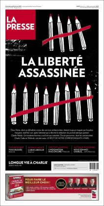 La Presse - Quebec - Canada - Je suis Charlie