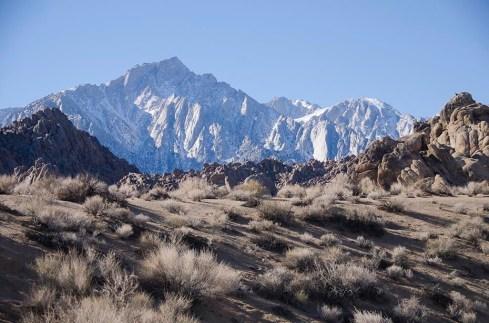 Montagnes enneigées - Lone Pine - USA