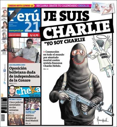 Perú 21 - Pérou - Je suis Charlie