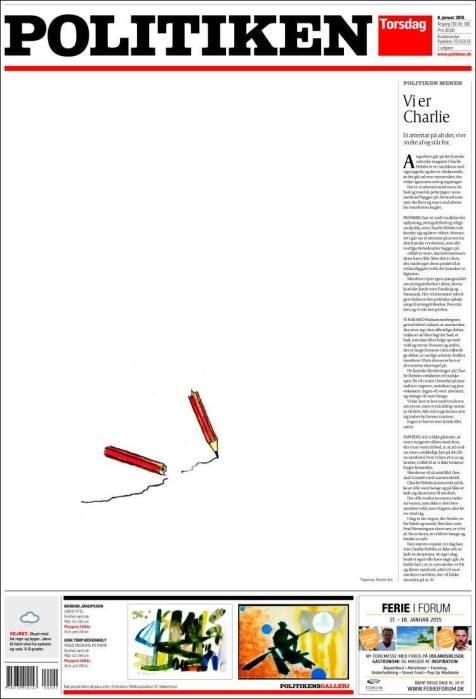 Politiken - Danemark - Je suis Charlie