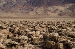 Roches labourées du Devils Golf - Death Valley - USA