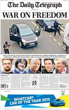 The Daily Telegraph - Royaume Uni - Je suis Charlie