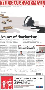 The Globe and Mail - Canada - Je suis Charlie