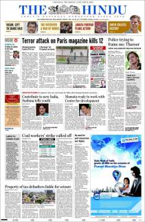 The Hindu - Inde - Nous sommes Charlie