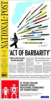 The national post - Canada - Je suis Charlie