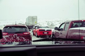 Traffic Jam - Entre flagstaff et Kingman le 31 décembre 2014 - USA