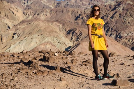 Un poussin dans le désert - Death Valley - USA