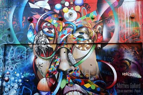 Une peinture à San Francisco, dans le quartier de Mission