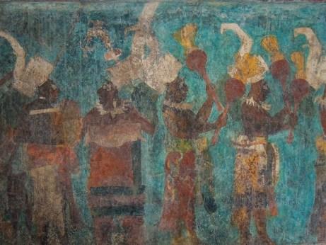 Peinture à Bonampak - Mexique