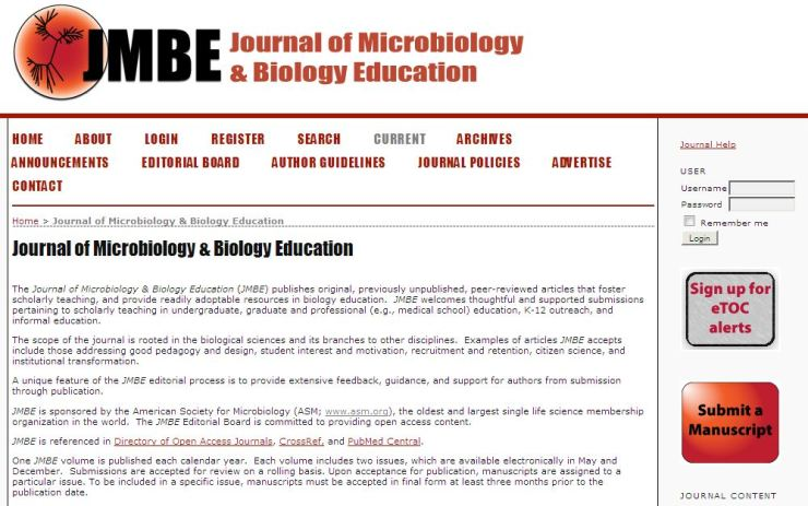 Journal of Microbiology education