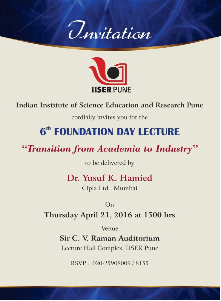 Invitation-6th Foundation Day IISER Pune-page-001