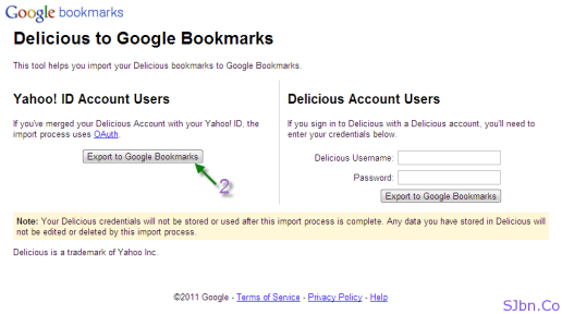 Export to Google Bookmarks