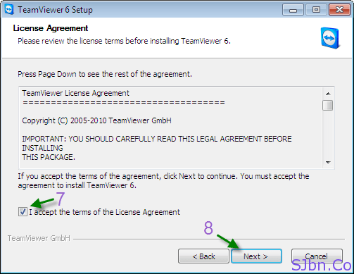 I accept the terms of the License Agreement