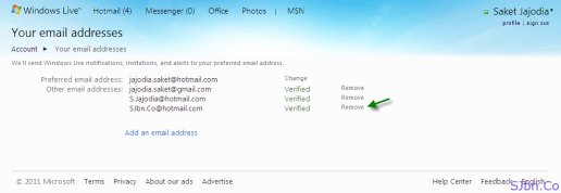 Your Hotmail email addresses