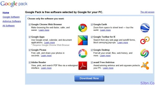Google Pack is free software selected by Google for your PC.