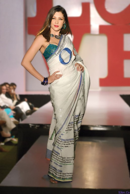 Oogle (Google) Saree by Satya Paul