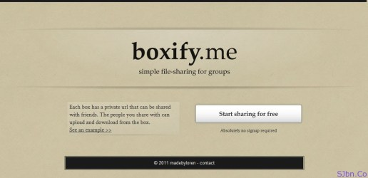 boxify.me - simple file-sharing for groups