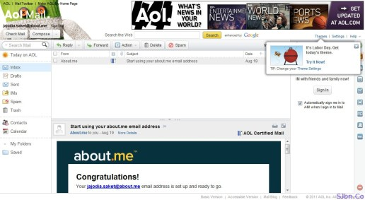 About.Me Email Service With AOL Mail