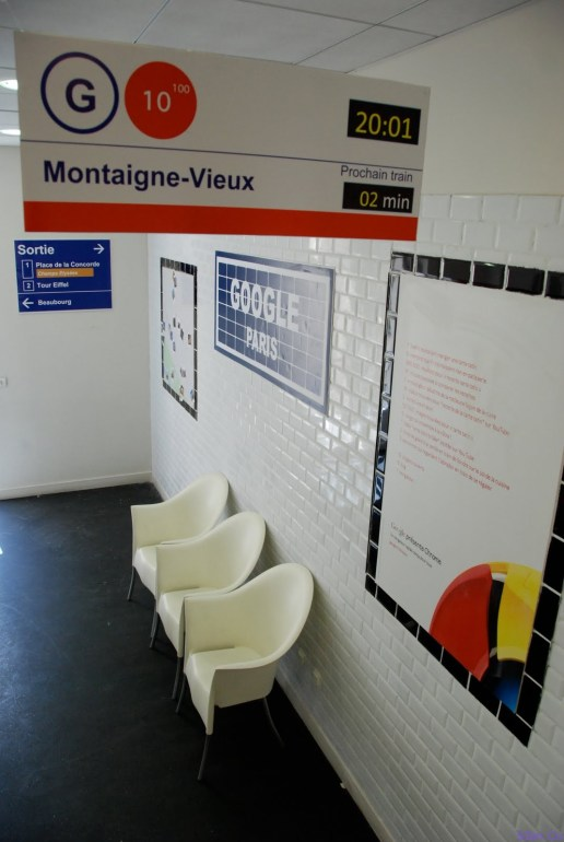 Google Paris Metro Station (Paris) - just like the real thing, right down to the white tiles