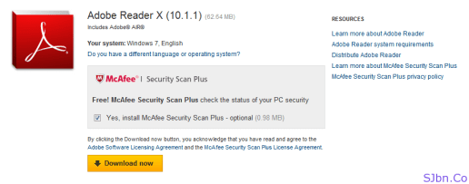 McAfee Security Scan Plus With Adobe Reader
