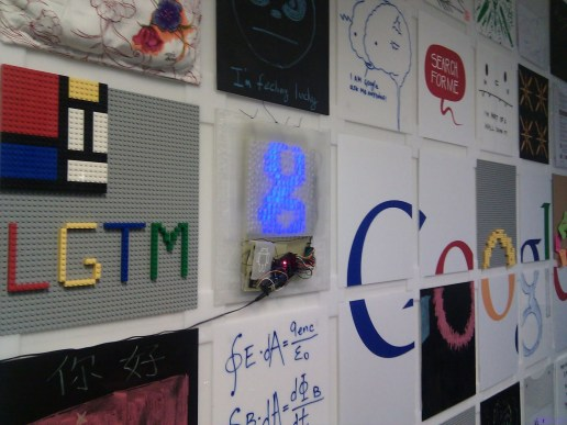 Shanghai Interactive Wall (Shanghai) - a magnetic wall with 63 moveable tiles including chalkboards, legos and a homemade LED panel activated by your mobile device