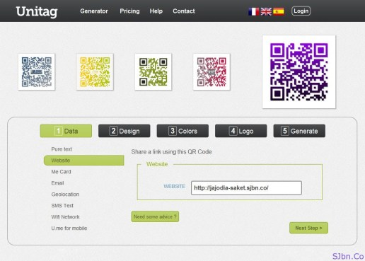 UniTag.fr - Generate Colorful and Branded QR Code