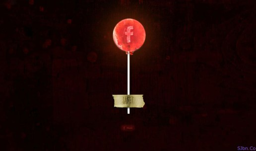 Red Lollipop With Facebook Icon In It
