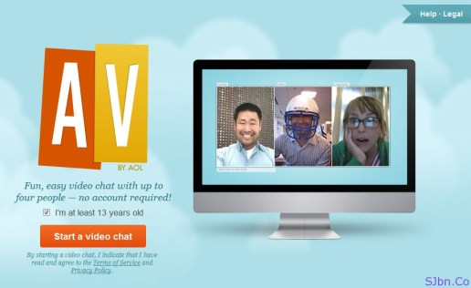 AV by AOL - Fun, easy video chat with up tofour people — no account required!