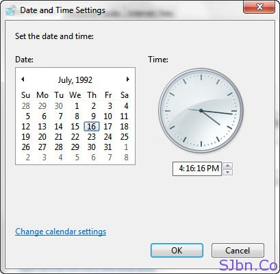 Date and Time Settings