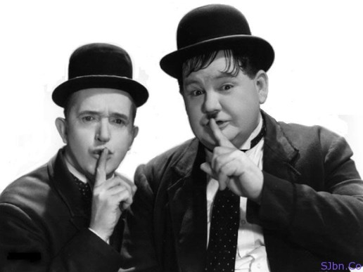 Shhh, don't tell..!! - Laurel and Hardy
