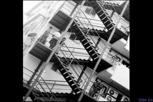 The 'Breath of Fresh Air' staircase...