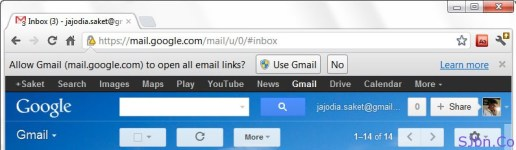 Allow Gmail to open all email links