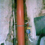 The new pipes, water and drain