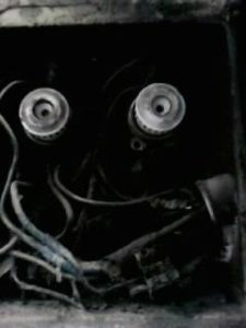 we opened the fusebox, and the burnt down wires smiled back at us