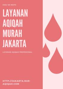 layanan aqiqah murah di Jakarta