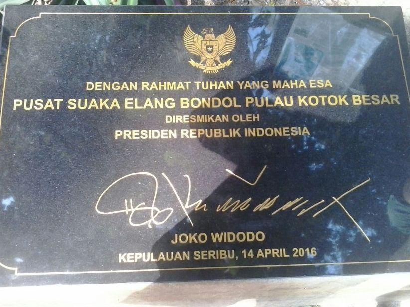 The Epigraph for the Official Protected Zone for the JAAN Raptor Progam at Kotok Island. Yay!
