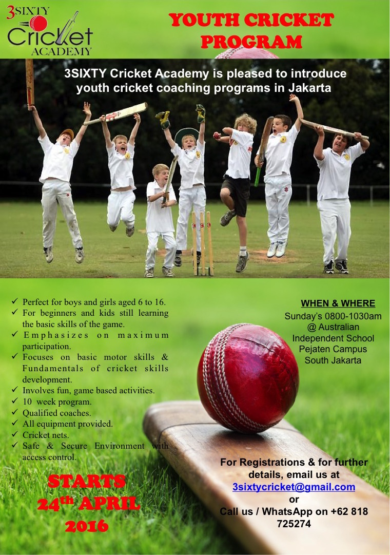 news jakarta cricket association junior cricket coaching is starting again in jakarta thanks to efforts of prakash marty aman