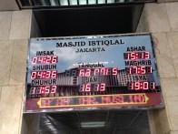 Board showing time of praying