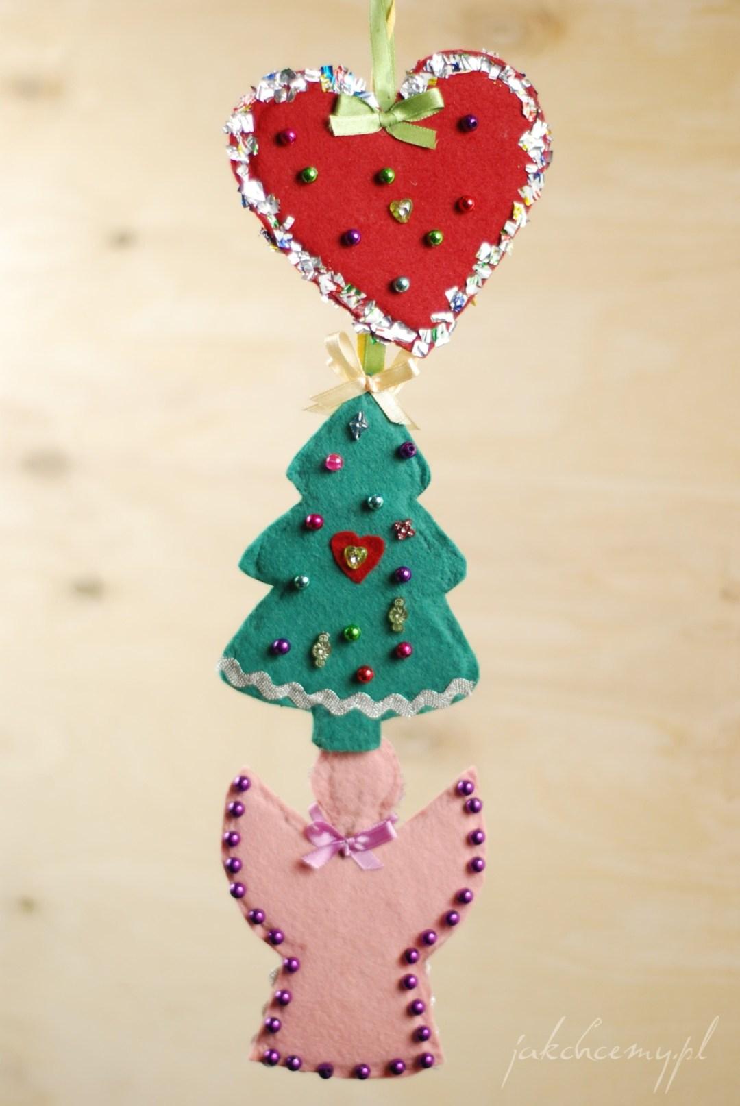gotowe-ozdoby-świąteczne - z filcu